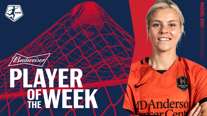 Houston Dash forward Rachel Daly named NWSL Player of the Week