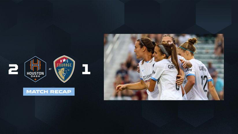 Houston Dash defeat North Carolina Courage 2-1