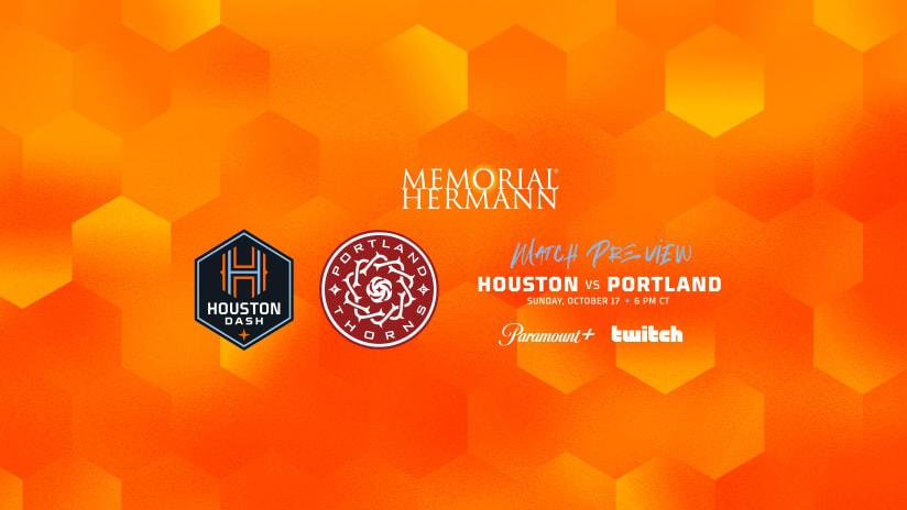 Houston Dash host Portland Thorns on Sunday in final regular season match at PNC Stadium