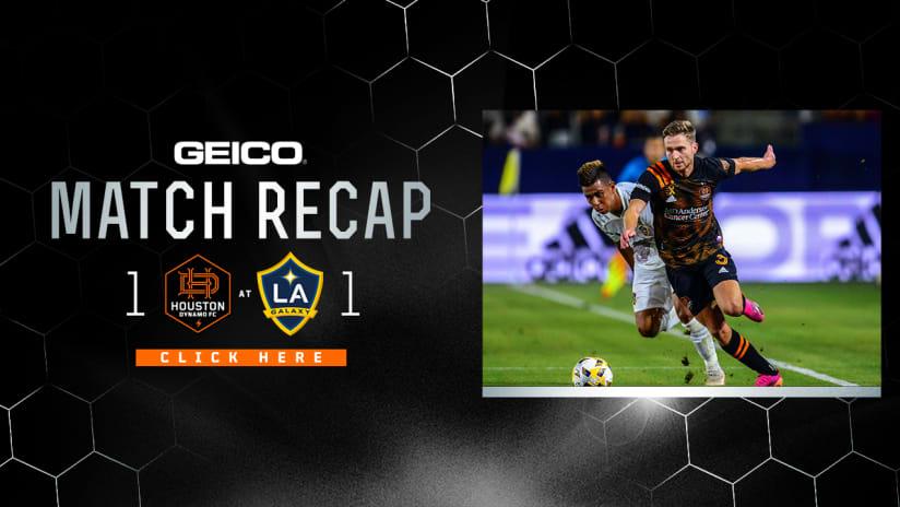 Dynamo earn road point in 1-1 draw with LA Galaxy