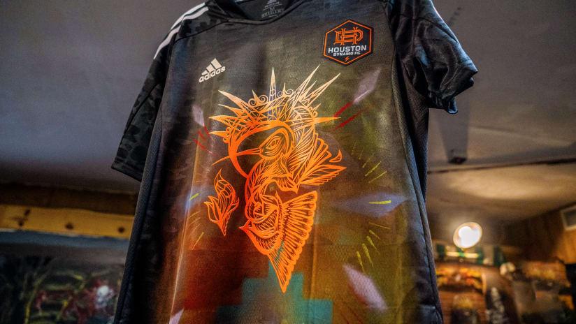 Houston Dynamo FC Hispanic Heritage Month Jersey Designed by Daniel Anguilu