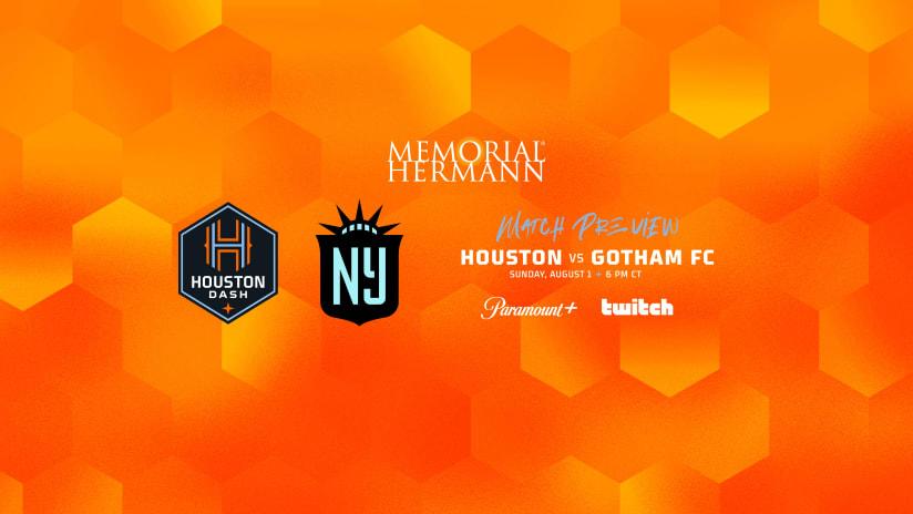 Houston Dash close two-game homestand against NJ/NY Gotham FC