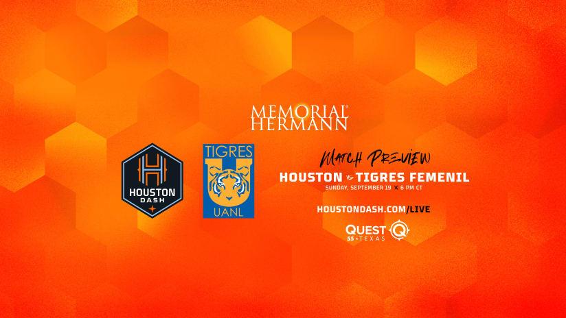 Houston Dash host Mexican Powerhouse Tigres Femenil on Sunday