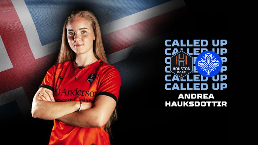 Midfielder Andrea Hauksdottir named to Icelandic Women's National Team
