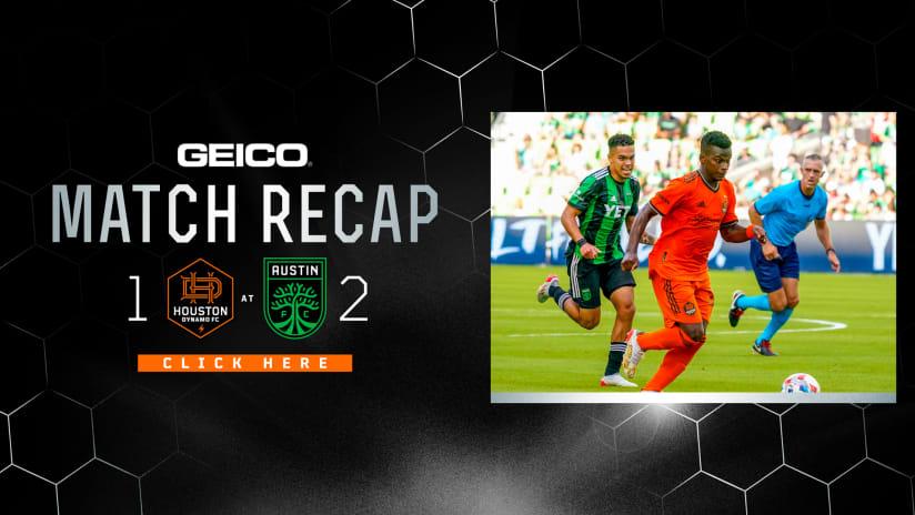 Houston Dynamo lose to in-state rival Austin FC 2-1