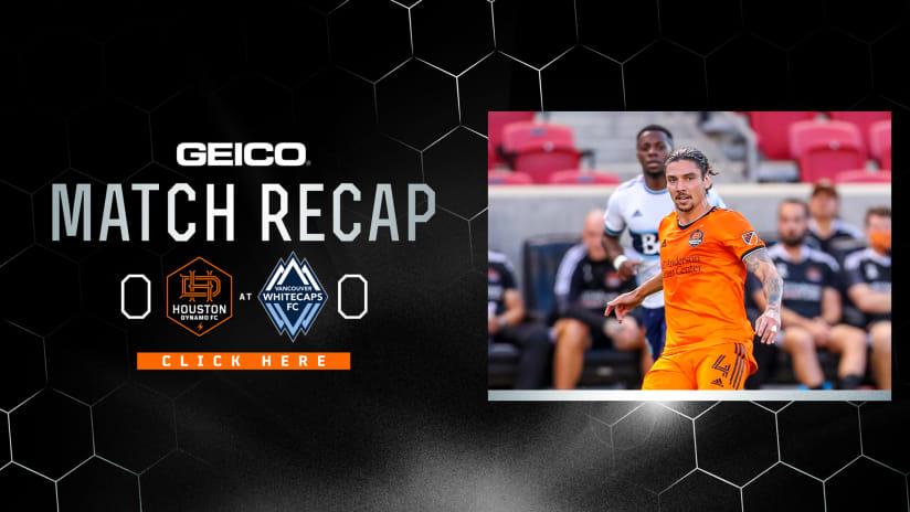 Houston Dynamo FC draw 0-0 with Vancouver Whitecaps FC