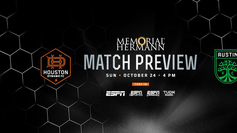 Houston Dynamo FC travels to Austin to close three-game week