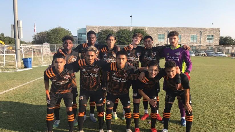 Houston Dynamo sweep weekend series against RISE Soccer Club
