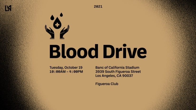 Donate Blood At Banc Of California Stadium October 19