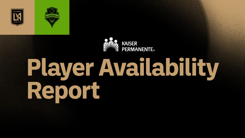 Player Availability Report vs Seattle 210424