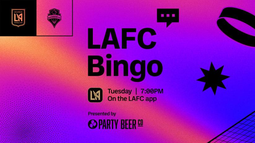 LAFC Bingo   LAFC vs Seattle Sounders 10/26/21