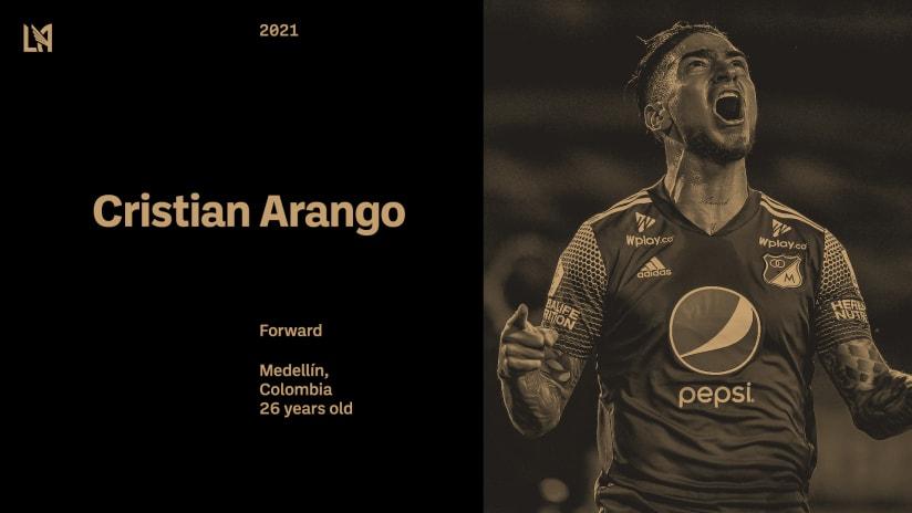 LAFC Signs Colombian Forward Cristian Arango