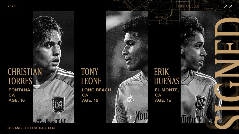 LAFC Signs First Three Homegrown Players In Club History