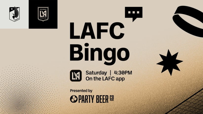 LAFC Bingo   LAFC at Minnesota United 10/23/21