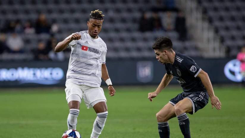 Shaft Brewer On Ball Looking Down vs Vancouver Whitecaps 190223 IMG