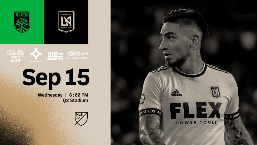 Where To Watch | LAFC at Austin FC 9/15/21