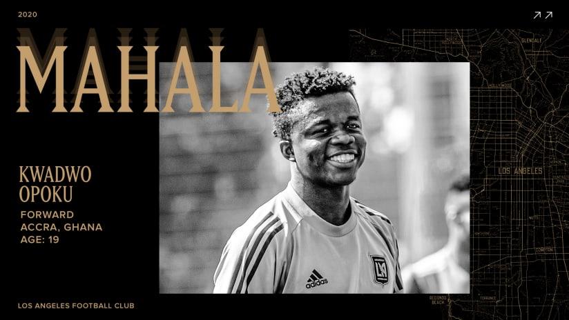 "LAFC Signs 19-Year-Old Forward Kwadwo ""Mahala"" Opoku"