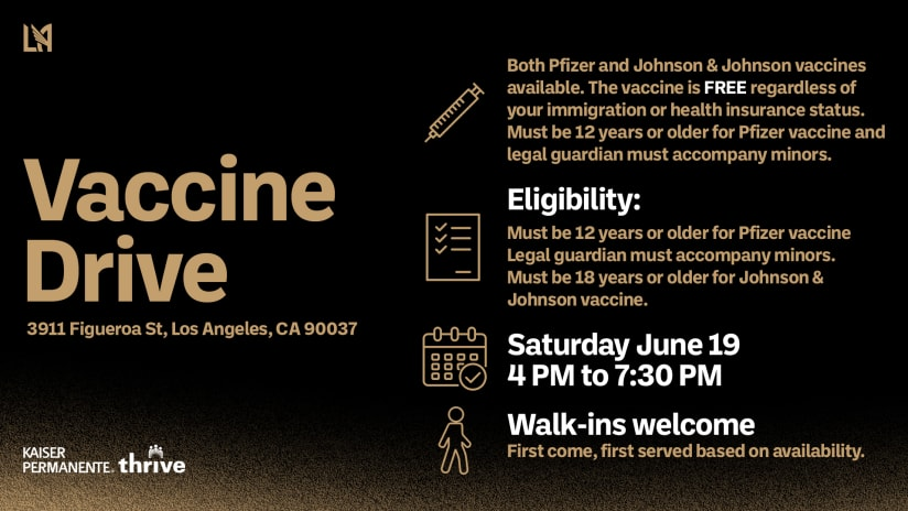 Get Your Vaccine & You Could WIN A Signed Carlos Vela Jersey!