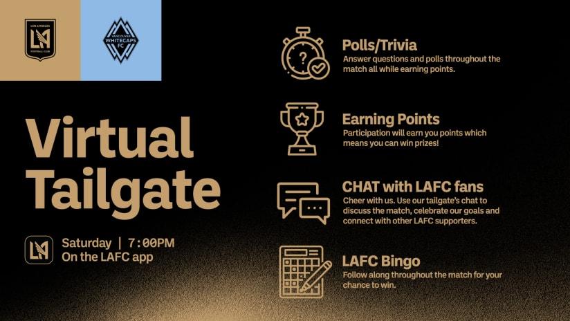 Virtual Tailgate | LAFC vs Vancouver Whitecaps 7/24/21