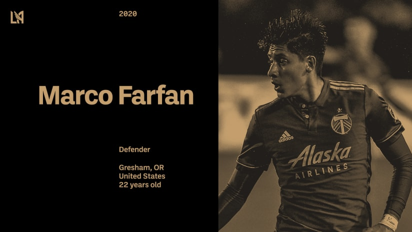 LAFC Acquires Defender Marco Farfan From Portland Timbers