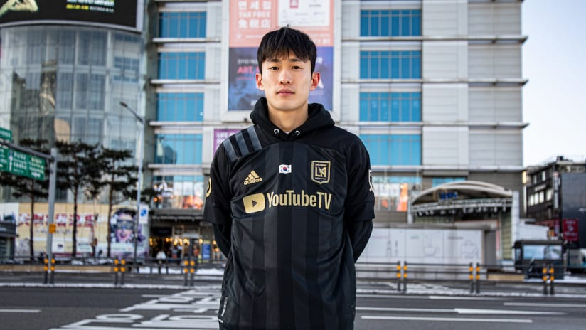 Kim Moon-Hwan Standing On Korean Street LAFC Kit 210106 IMG