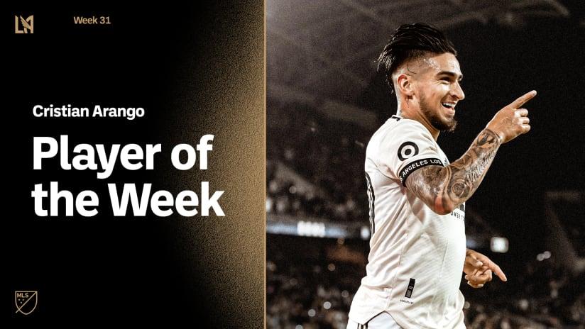 LAFC Forward Cristian Arango Voted MLS Player Of The Week   Week 31