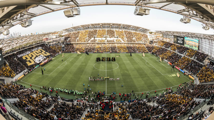 Banc Stadium Panorama Black And Gold