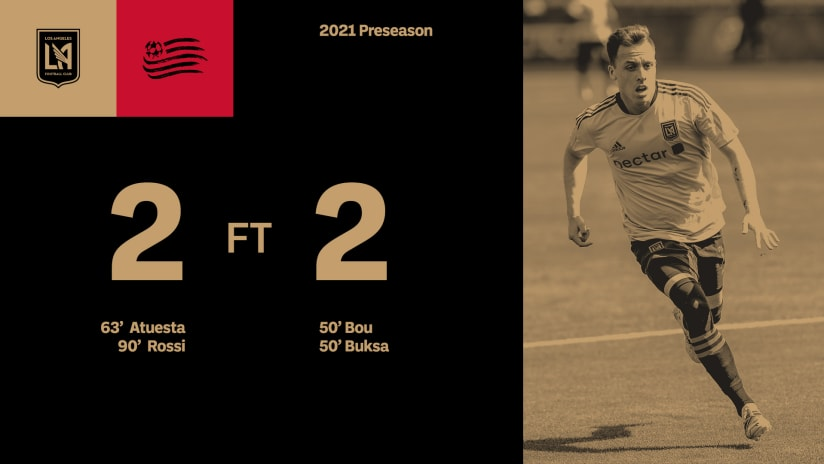 LAFC 2-2 New England Revolution FT Preseason HALF 210403 IMG