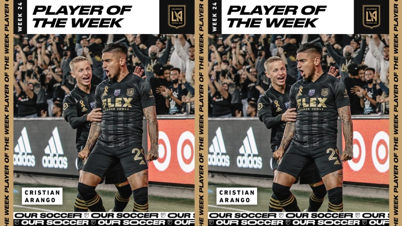 Cristian Arango Voted MLS Player Of The Week For Week 24