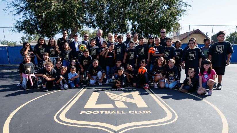 LAFC & Kaiser Permanente Celebrate Initiative To Refurbish Futsal Courts Across Los Angeles