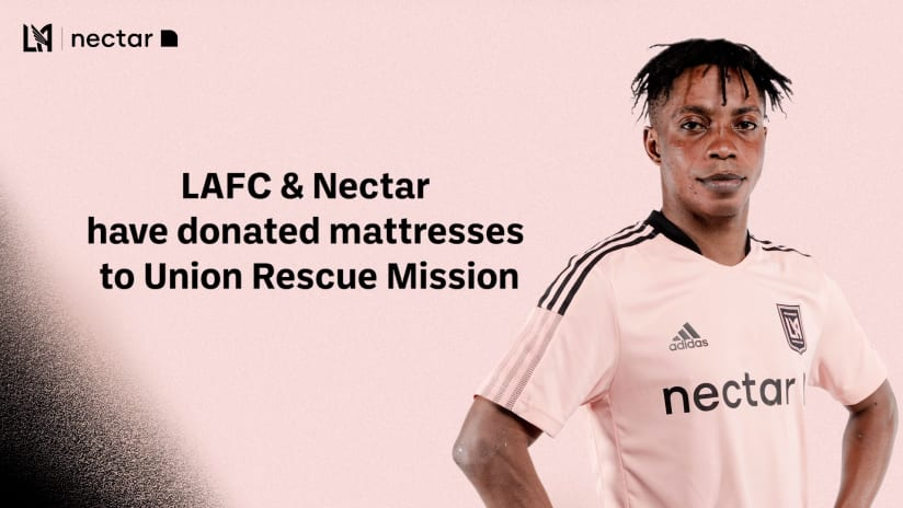 LAFC & Nectar Extend Club's 'Month Of Giving' With Mattress Donation To Union Rescue Mission Of Los Angeles