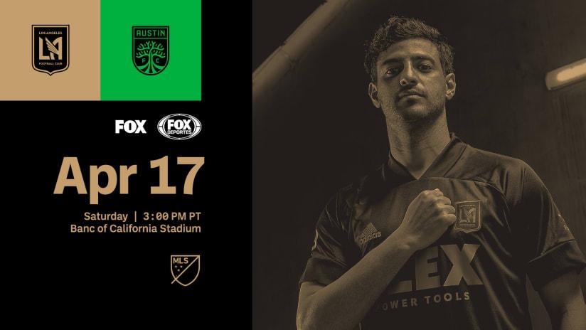 Where To Watch | LAFC vs Austin FC - 4/17/21