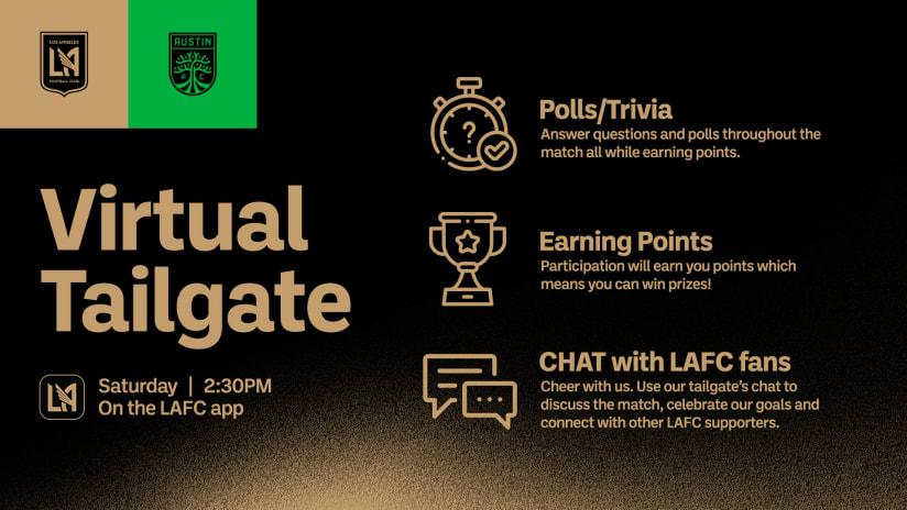 Virtual Tailgate | LAFC vs Austin FC - 4/17/21