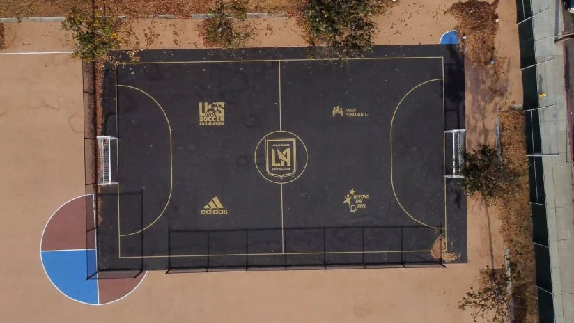 LAFC, Kaiser Permanente, Adidas & U.S. Soccer Foundation Prepare For Students Eventual Return To Schools With New Futsal Courts