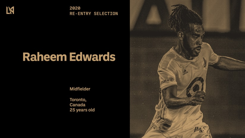 LAFC Selects Midfielder Raheem Edwards In Stage 1 Of 2020 Re-Entry Process