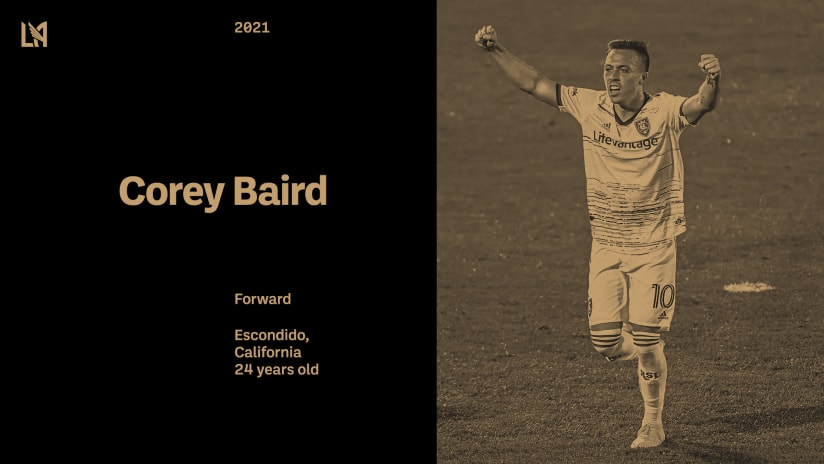 拉法克 Acquires U.S. International Forward Corey Baird From Real Salt Lake