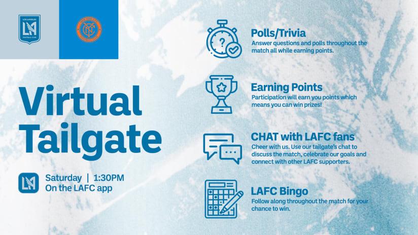 Virtual Tailgate | LAFC vs New York City FC 5/29/21