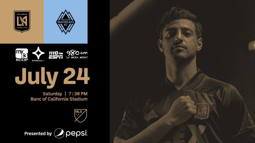 Where To Watch | LAFC vs Vancouver Whitecaps 7/24/21