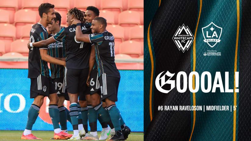 GOAL: Rayan Raveloson scores header to put LA Galaxy ahead early vs. Vancouver Whitecaps FC
