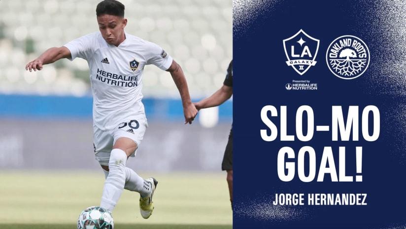 SLO-MO GOAL: Jorge Hernandez vs. Oakland Roots SC   July 25, 2021