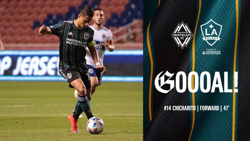 GOAL: Javier 'Chicharito' Hernandez scores his eighth goal of the 2021 season
