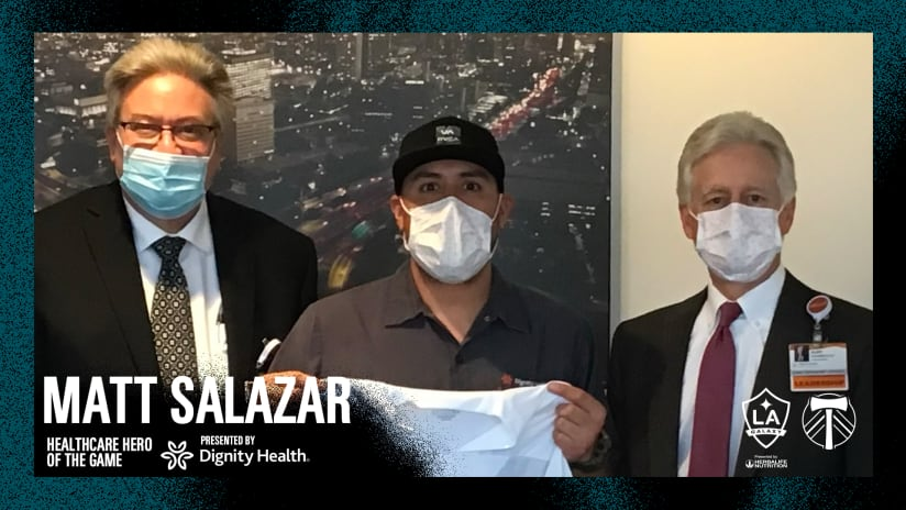 Matt Salazar is our Dignity Health Healthcare Hero of the Game