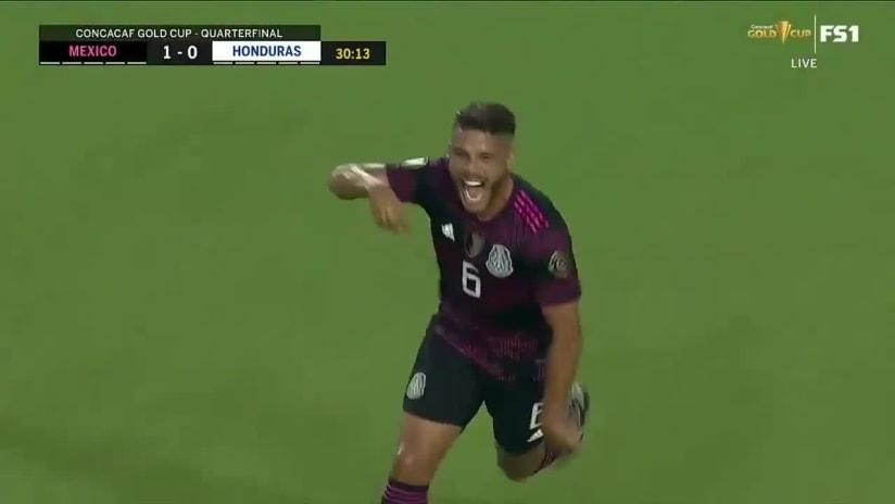 GOAL: Jonathan dos Santos puts Mexico up vs. Honduras in Concacaf Gold Cup Quarterfinal