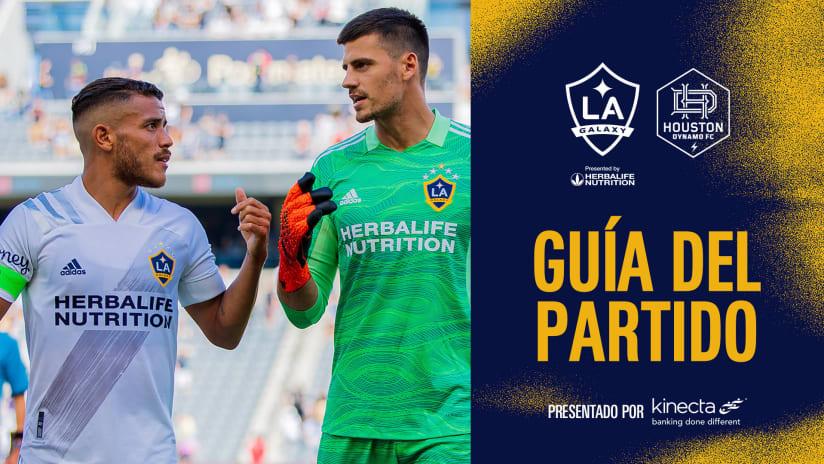 Guía Del Partido presentado por Kinecta: LA Galaxy vs. Houston Dynamo FC | 15 de septiembre de 2021