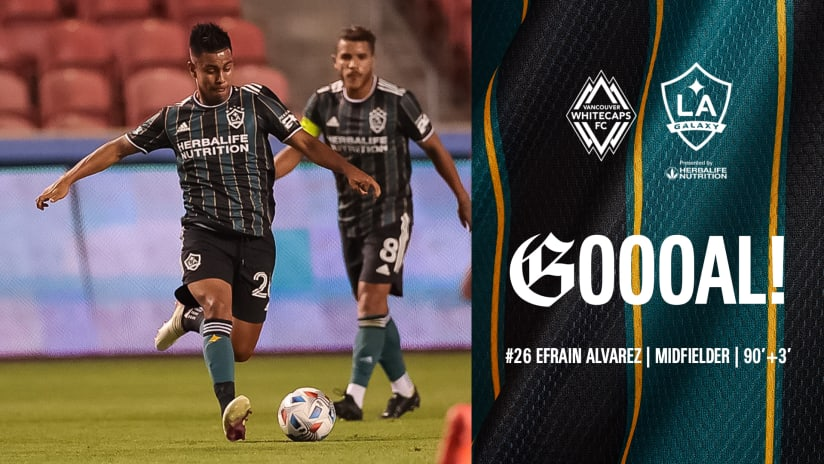 GOAL: Efrain Alvarez scores an upper-left blast to give LA Galaxy win over Vancouver Whitecaps FC
