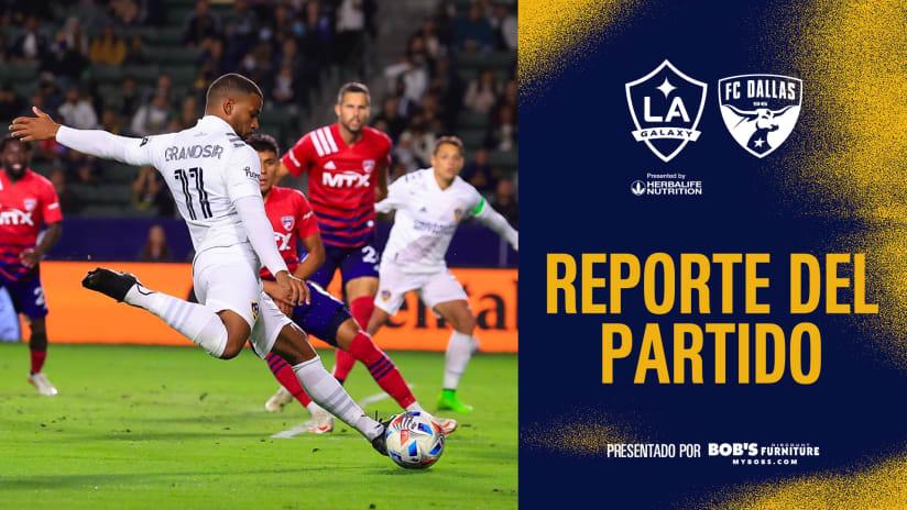Reporte del Partido presentado por Bob's Discount Furniture: LA Galaxy regresa para igualar