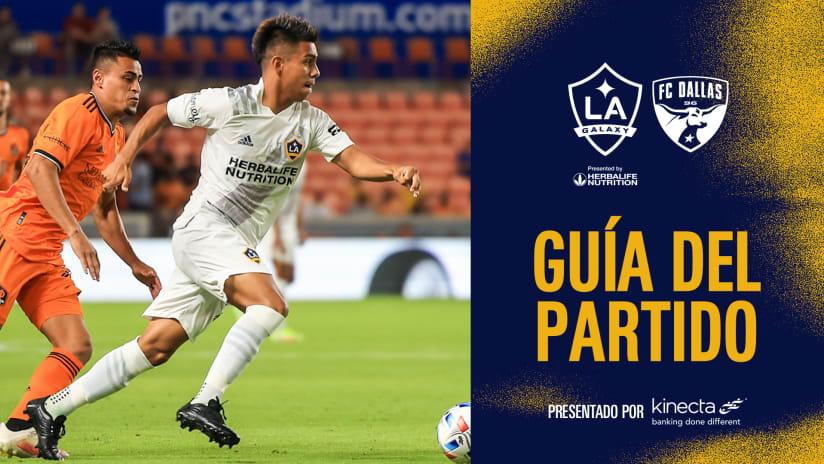 Guía del Partido presentado por Kinecta: LA Galaxy vs. FC Dallas | 23 de octubre de 2021