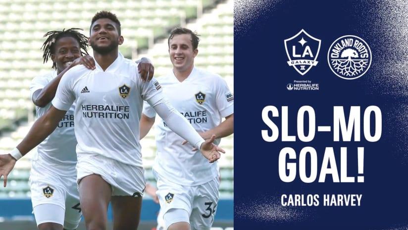 SLO-MO GOAL: Carlos Harvey vs. Oakland Roots SC   July 25, 2021