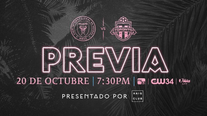 PREVIA: Inter Miami CF recibirá la visita de Toronto FC el miércoles