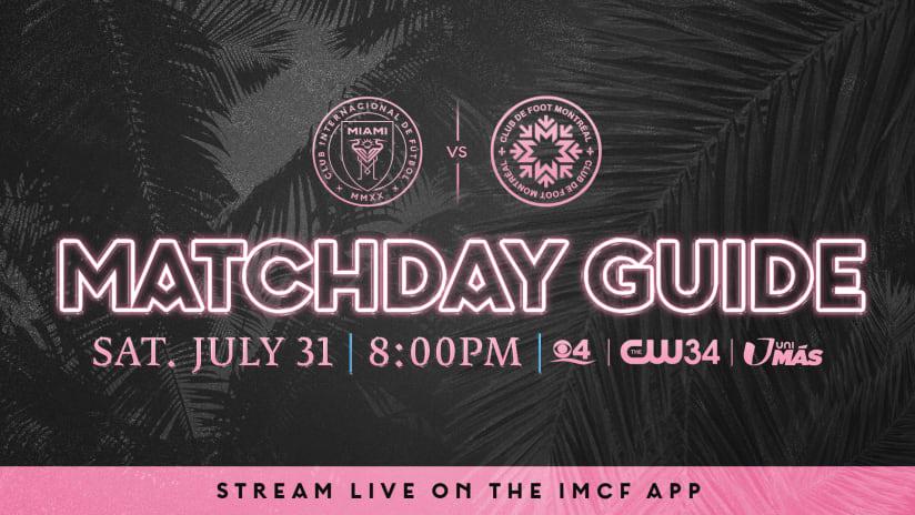 Matchday Guide: Inter Miami CF vs. CF Montréal